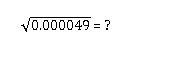 Question title