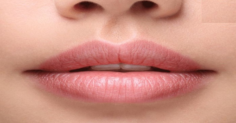 soft and pink lips