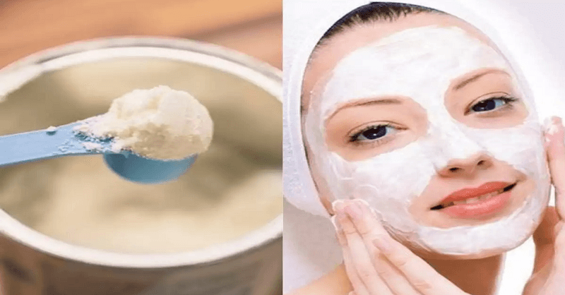Milk powder face pack beneficial