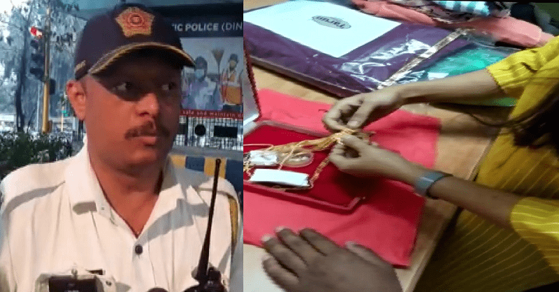 Mumbai traffic police, returned a bag, Gold and cash