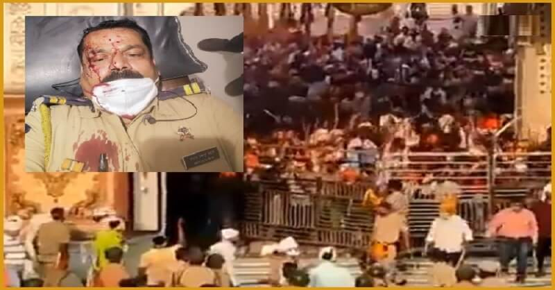 Nanded mob attacked, Superintendent Police, Sword