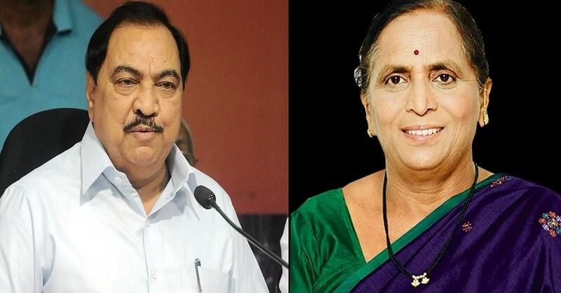 Non Bailable Warrant Against Eknath Khadse & Mandakini Khadse