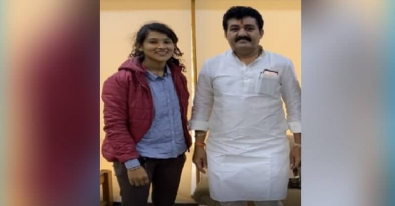 New photo, Pooja Chavan, minister Sanjay Rathod