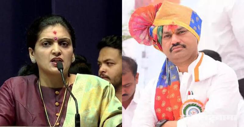 MNS leader Rupali Patil Thombare, Dhananjay Munde case