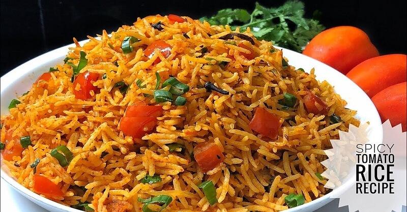 Tomato rice recipe in Marathi
