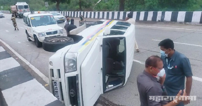 Accident To A Police Van, NCP President Sharad Pawar