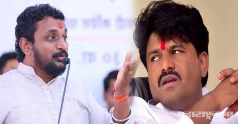 NCP MLA Amol Mitkari, BJP MLA Gopichand Padalkar