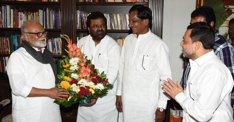 BJP Leader Vasant Gite, ncp senior leader chhagan bhujbal, Nashik former Deputy Mayor Prathamesh Gite