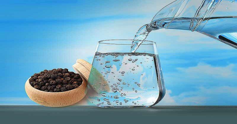 Black pepper, Hot water, health benefits