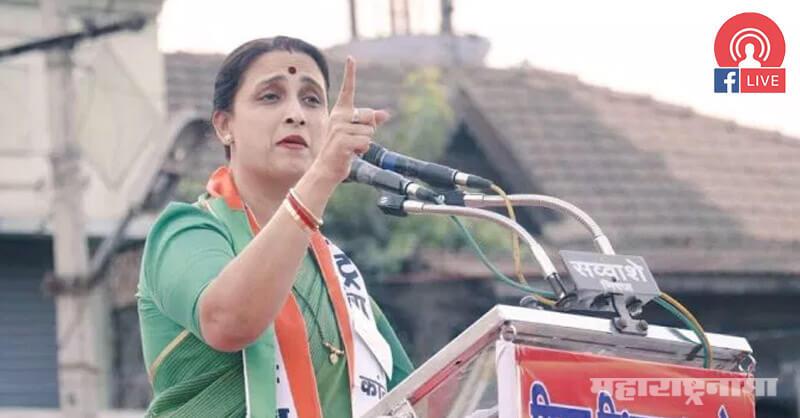 NCP Chitra Wagh, Chitra Wagh, BJP Chitra Wagh, BJP Maharashtra, Sharad Pawar, Ajit Pawar, Supriya Sule, Assembly Election 2019
