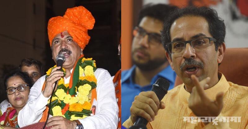 BJP MLA Atul Bhatkhalkar, CM Uddhav Thackeray, Shivsena Dasara Melava 2020