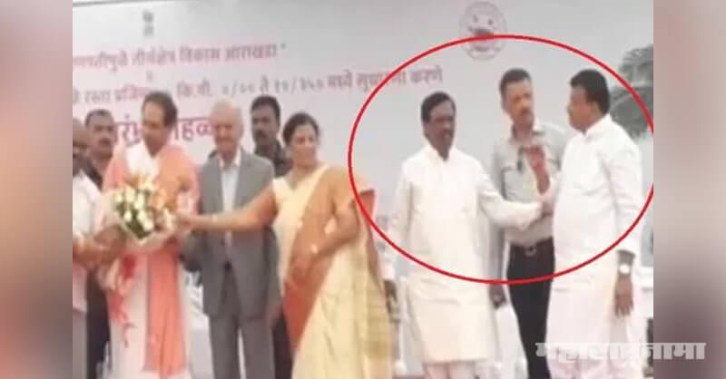 Shivsena MP Vinayak Raut, MLA Bhaskar Jadhav, CM Uddhav Thackeray, Ganpatipule