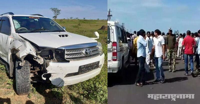 Minister Tanaji Sawant, Shivsena Tanaji Sawant, Shivsena, Vehicle Accident