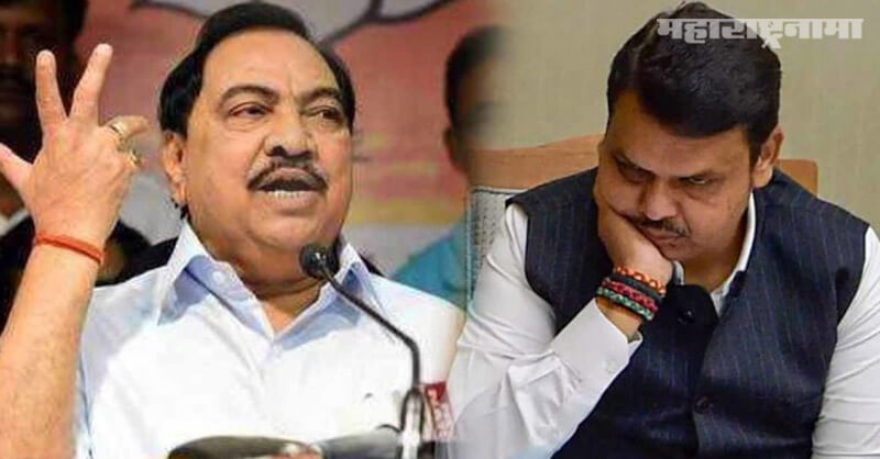 Donated, Chief Minister ship Brahmin, NCP Leader Eknath Khadse