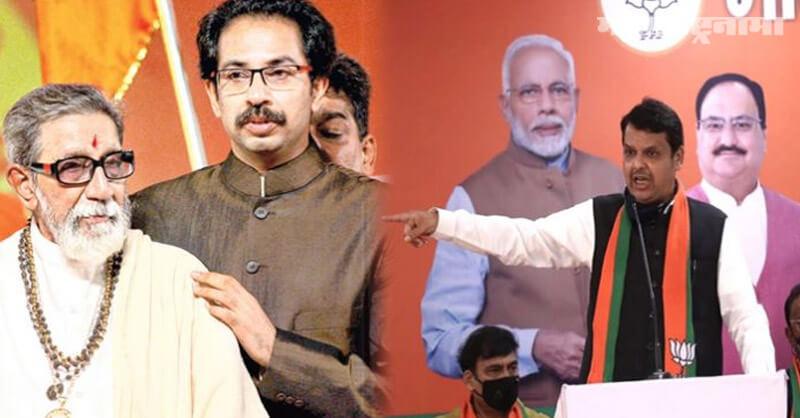 Opposition leader Devendra Fadnavis, Balasaheb Thackeray