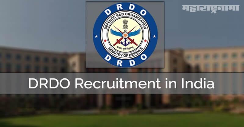 DRDO Recruitment 2021, free job alert, majhi naukri, freshersworld