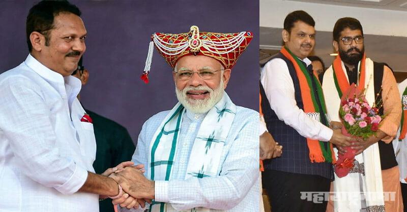 Former MP Udayanraje Bhosale, MLA Shivendraraje Bhosale, Chhtrapati Sambhaji Maharaj
