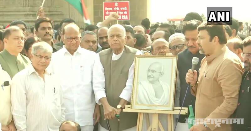 Sharad Pawar, Yashwant Sinha, Gandhi Yatra, Opposed CAA NRC