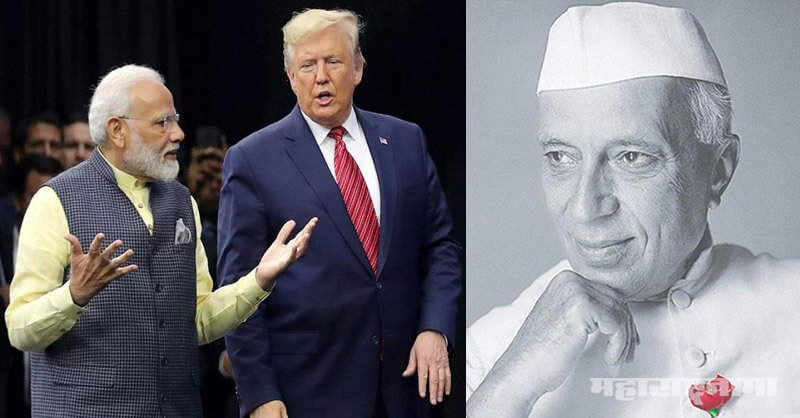 PM Narendra Modi, US President Donald Trump, Mahatma Gandhi, HowDyModi