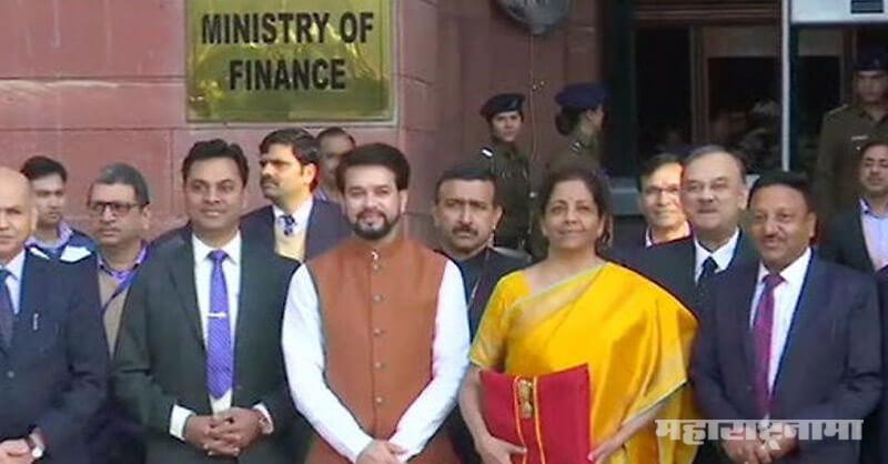 Budget 2020. Finance Minister Nirmala Sitharaman