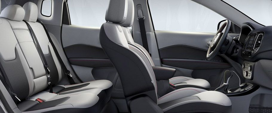 jeep compass--seats-aerial-view