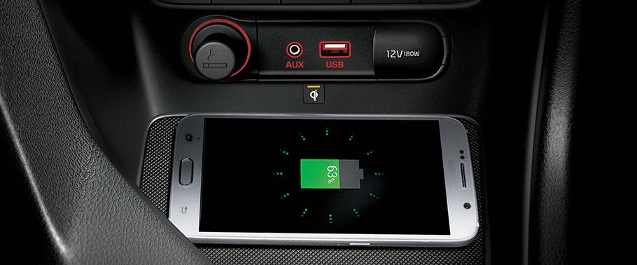 kia sportage-center-tunnel-with-attached-smartphone
