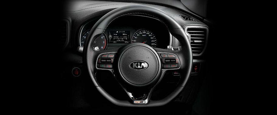 kia sportage-steering-wheel