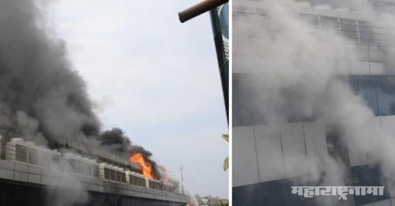 Huge fire, Rolta company