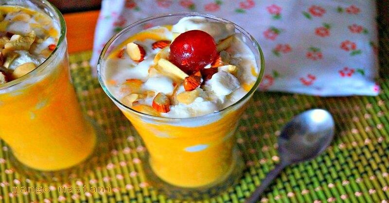 tasty and yummy mango mastani