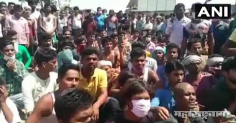 migrant labourers, staged protest, Lockdown