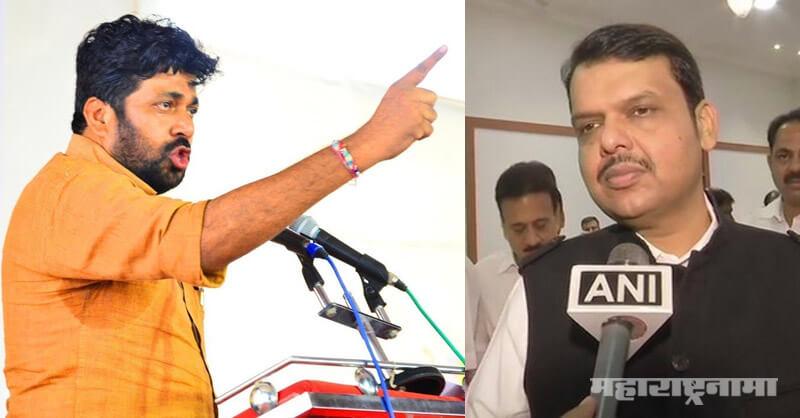 MLA Bacchu Kadu, Opposition Leader Devendra Fadnavis, Chief Minister Uddhav Thackeray