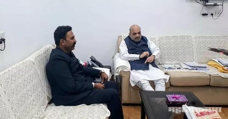 Amit Shah, ranjeetsingh naik nimbalkar, Madha Loksabha, BJP Maharashtra