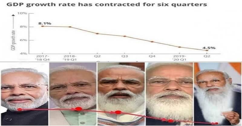 Congress leader Shashi Tharoor, Graphic mockery, PM Narendra Modi, Collapsing GDP