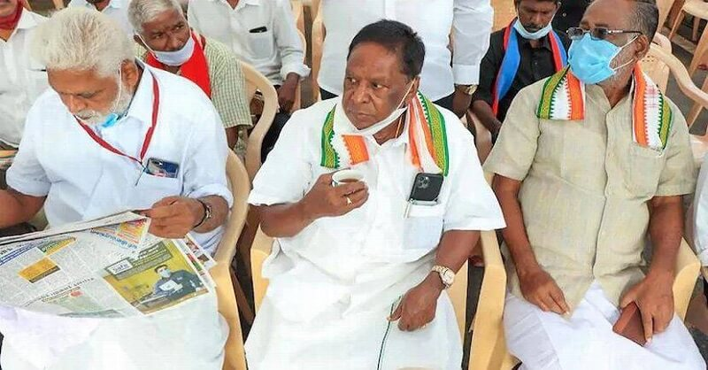 Puducherry Govt, Chief Minister Narayanasamy, Congress, DMK