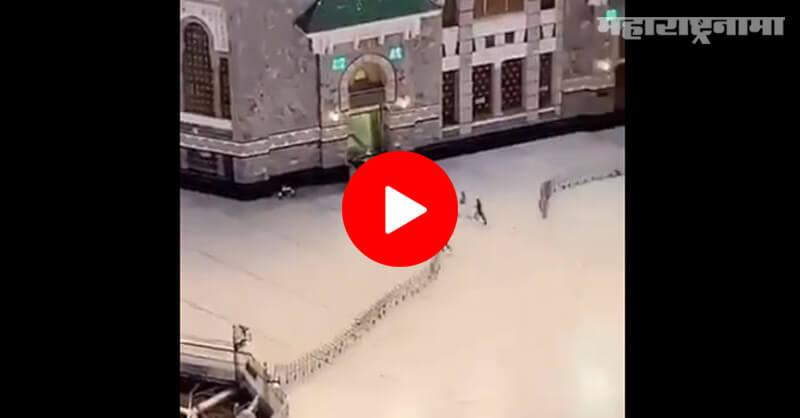Saudi Arabia, a car in Mosque, in Mecca