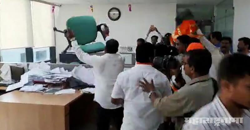 IFFCO Tokyo Insurance Pune, Shivsena Workers Broken office, Crop Insurance
