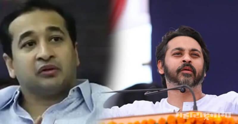 Former MP Nilesh Rane, MLA Nitesh Rane, MP Narayan Rane, Shivsena