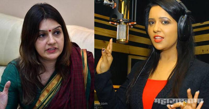 Shivsena spokesperson Priyanka Chaturvedi, Amruta Fadnavis