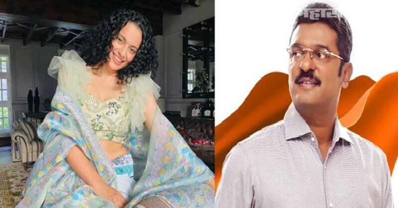 Shivsena MLA Pratap Sarnaik, BJP leaders, Kangana Ranaut, Mumbai Exit, Marathi News ABP Maza