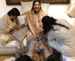 Bollywood actress Sonam Kapoor mehendi ceremony