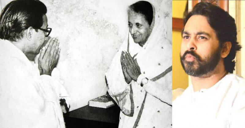 Balasaheb Thackeray,  BJP Leader Nilesh Rane, Indira Gandhi