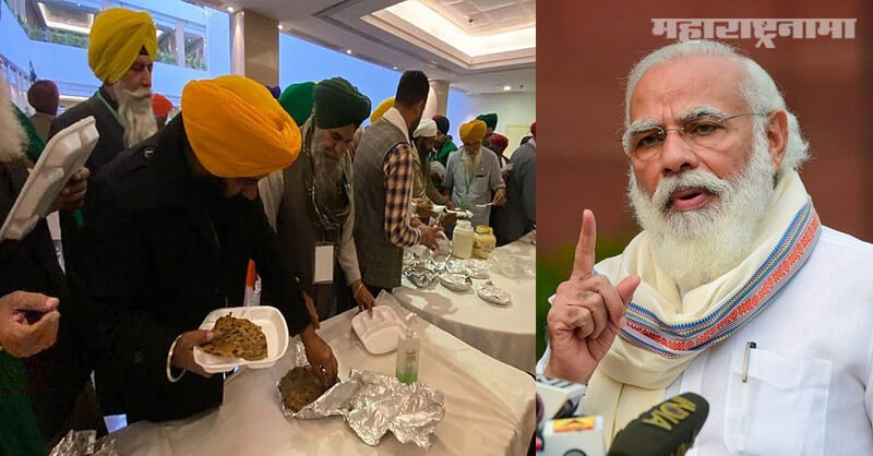 Own food, Agitating farmers, reject, Modi government lunch